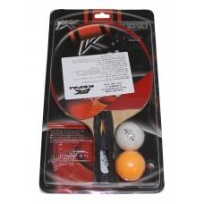 Набор для н/тенниса KEPAI (ракетка дерево,губка,резина,1ракет,2шарика) SS-CHIN-KP-3138 A