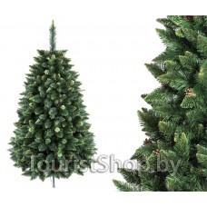 Сосна Хрустальная (зеленая) с шишками