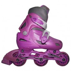 Роликовые коньки KEPAI Розовый (колеса ПВХ,подш 608Z, настраив.разм S/30-33) SS-CHIN-STAR-9 30-33 роз