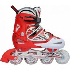 Роликовые коньки KEPAI Красный (матер.полипр,колеса 7064,подш ABEC-5, настраив.разм S/30-33) SS-CHIN-SK-960 30