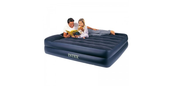 Надувной матрас-кровать Intex Downy 152х203х42см